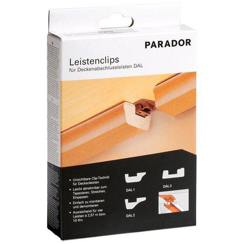 PARADOR Leistenclips »24 Leistenclips«, für Leistentypen DAL 1, DAL 2, und DAL 3, braun