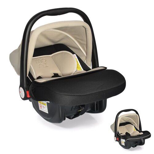 Moni Babyschale »Kindersitz Babyschale Luna Gruppe 0+«, 3 kg, (0 bis 13 kg) mit Sonnendach, beige