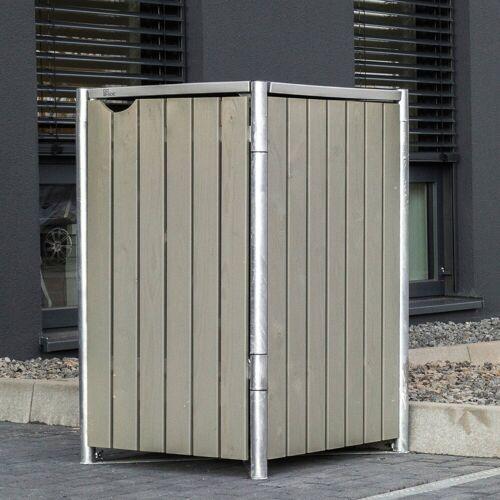 Hide Mülltonnenbox für 1 x 120 l, grau/natur, grau/natur
