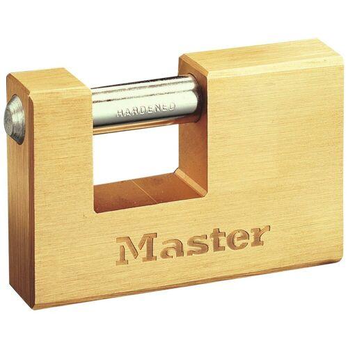 Master Lock Vorhängeschloss Panzerschloss, 85 mm aus Messing, goldfarben