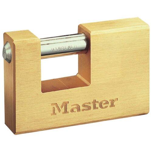Master Lock Vorhängeschloss Panzerschloss, 63 mm aus Messing, goldfarben