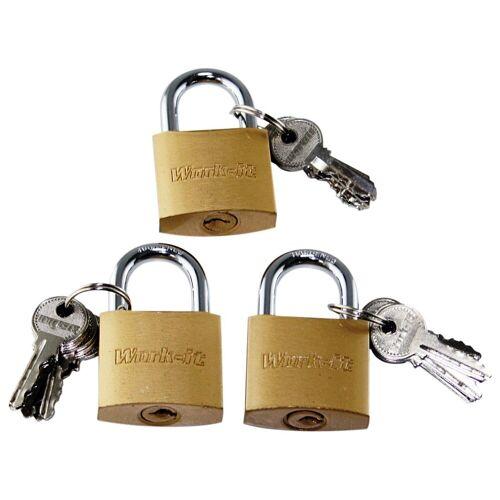 BigDean Vorhängeschloss »Schlösser mit 18 Schlüsseln gleichschließend« (3-tlg)
