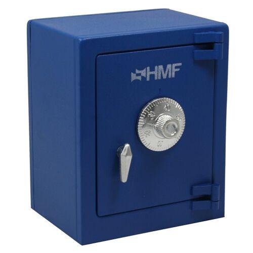 HMF Spardose »306«, Minitresor mit Zahlenschloss, 13,5 x 11 x 8, blau