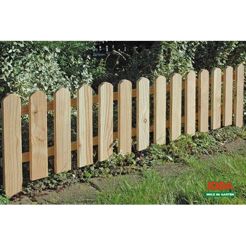 JODA Gartenstecker 4x Holz Steckzaun 120x30 aus Lärche, Beetbegrenzung, Garten Zaun