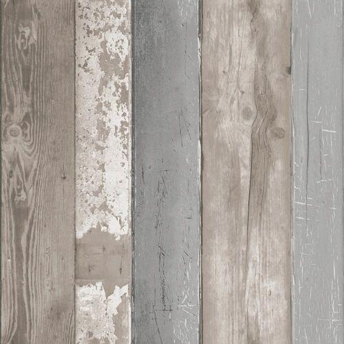 vtwonen Vliestapete »Holzbohlen«, Holz, (1 St), Grau - 10m x 52cm