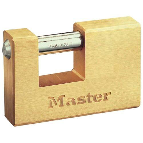 Master Lock Vorhängeschloss Panzerschloss, 76 mm aus Messing, goldfarben