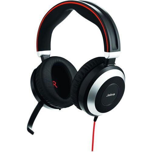 Jabra Headset »Evolve 80 UC Duo (nur Headset mit 3,5 mm Klinke)«, keine Farbe