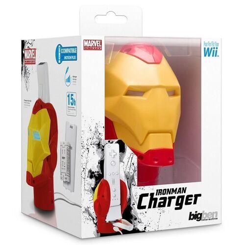 BigBen »Marvel Iron Man Design Ladegerät + Akku Docking Lader für Nintendo Wii Controller Wiimote« Wii-Controller (Set, 1 St)