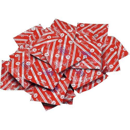 London Kondome »rot« Packung, 100 St., mit Erdbeeraroma