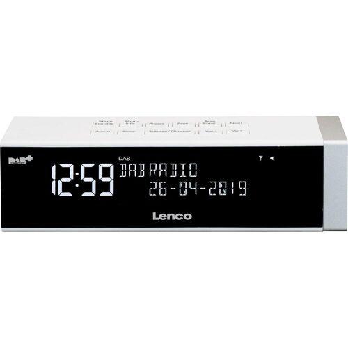Lenco »CR-630« Digitalradio (DAB) (FM-Tuner, Digitalradio (DAB), 4 W), weiß
