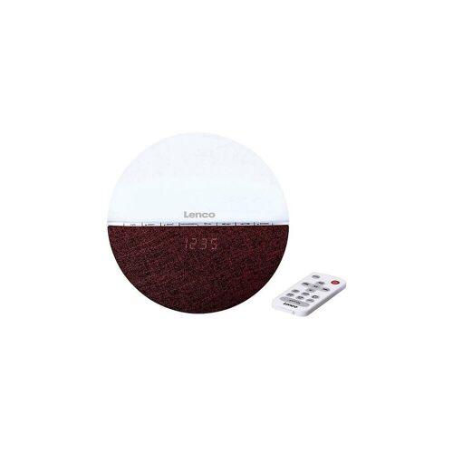 Lenco »CRW-4GY - Radiowecker mit Wake-Up Light und« Radiowecker, rot