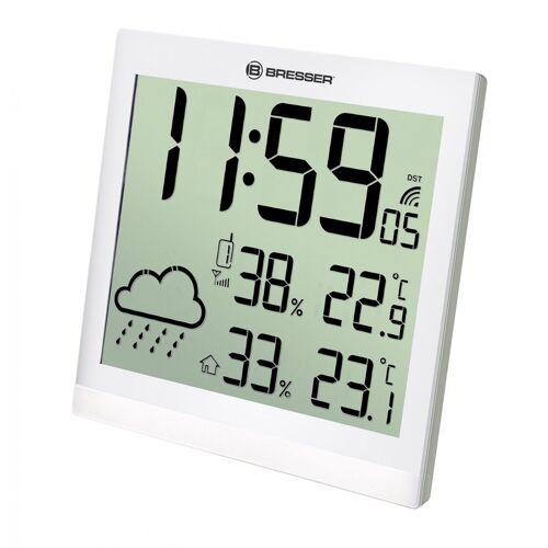 BRESSER Wetterstation »LCD Wetter-Wanduhr TemeoTrend JC«, weiss