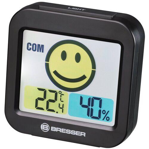 BRESSER Thermo- und Hygrometer »Temeo Smile mit Raumklimaindikator«, schwarz