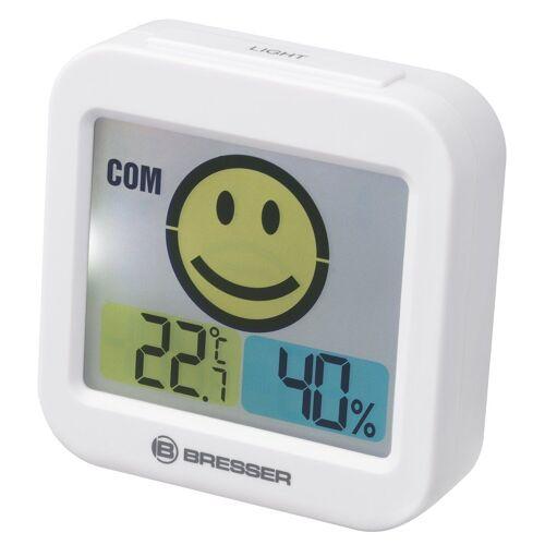 BRESSER Thermo- und Hygrometer »Temeo Smile mit Raumklimaindikator«, weiss