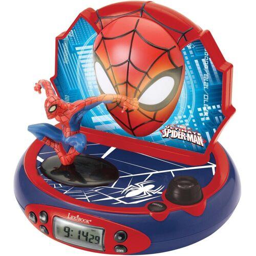 Lexibook® Projektionswecker »Spider-Man« mit Nachtlicht und Radio, blau-rot