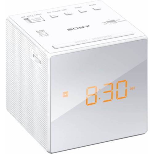 Sony Radio »Uhrenradio ICF-C1B«, Weiß