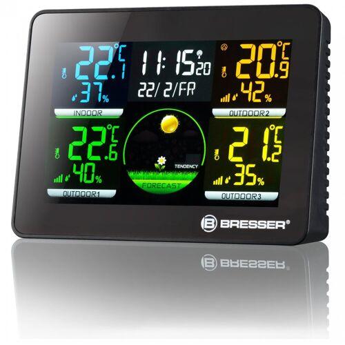 BRESSER Wetterstation »Quadro NLX - Thermo-/Hygrometer mit 3x Außensensor«