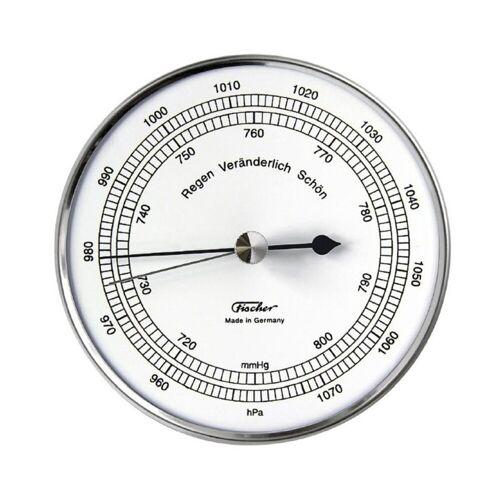 Fischer Barometer, Edelstahl, Silber