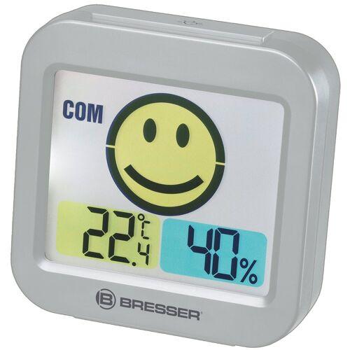 BRESSER Thermo- und Hygrometer »Temeo Smile mit Raumklimaindikator«, grau