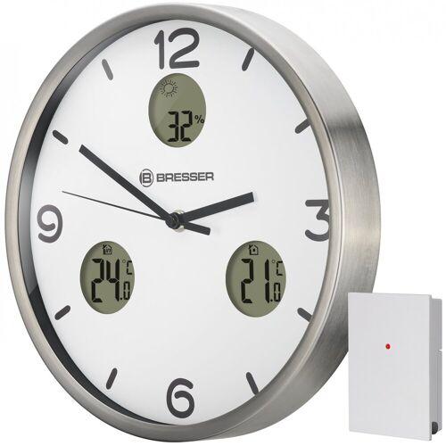 BRESSER Wanduhr »MyTime io NX mit Thermometer und Hygrometer«, weiss