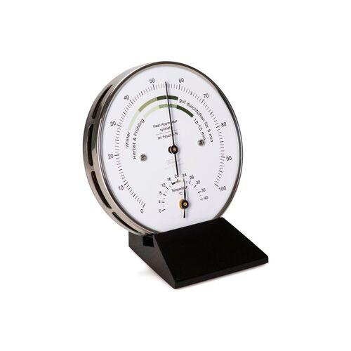 Fischer Barometer »Wohnklima Thermo- Hygrometer, Holzsockel schwarz« Innenwetterstation