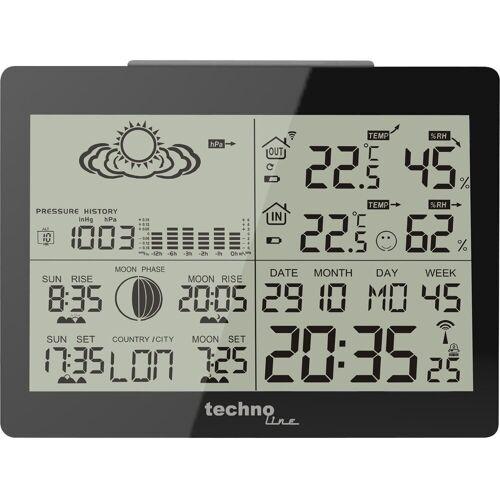 technoline »WS 6760 - moderne Wetterstation in schwarzer Hochg« Wetterstation