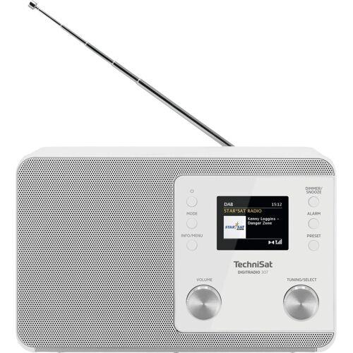 TechniSat »307« Digitalradio (DAB) (UKW mit RDS, Digitalradio (DAB), 5 W), weiß