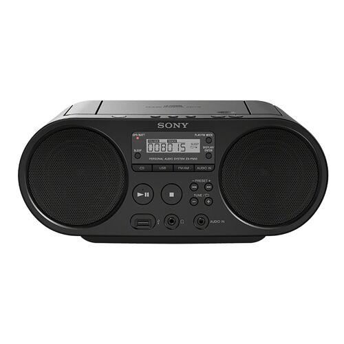 Sony »ZS-PS50« Boombox (AM-Tuner, FM-Tuner, 4 W, CD-Laufwerk, Front-USB, MP-3), schwarz