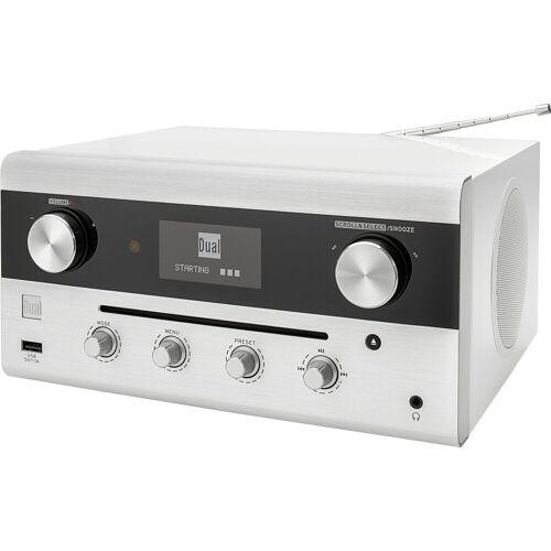 Dual »CR 900 Phantom« Radio (Bluetooth, WLAN, NFC, Digitalradio (DAB), UKW mit RDS, Internetradio, 20 W), weiß
