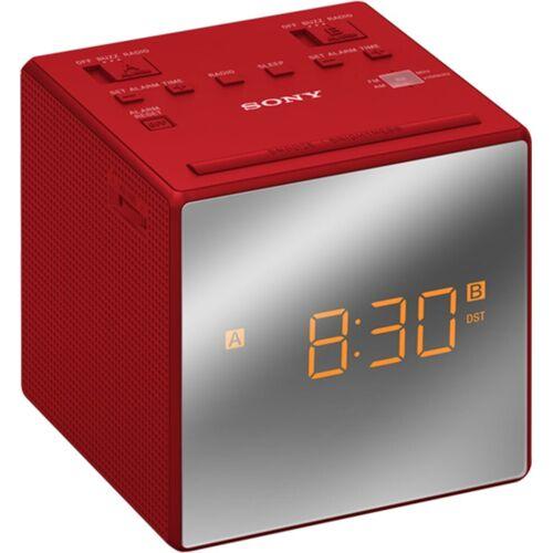 Sony Radio »Uhrenradio ICF-C1TB«, Rot