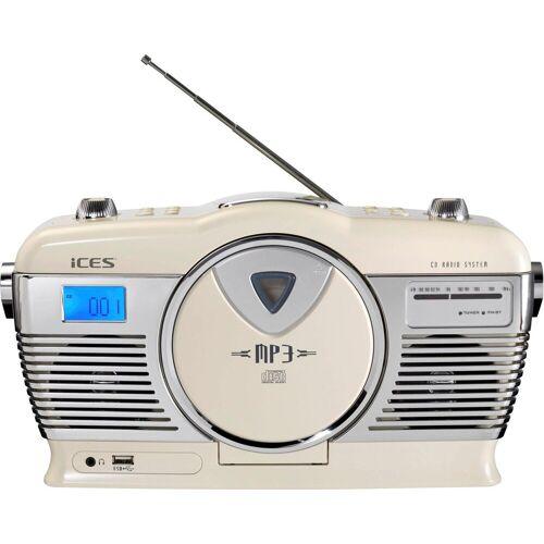Lenco »ISCD-33« Retro-Radio (FM-Tuner), weiß