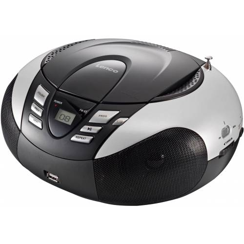 Lenco »SCD-37 Portables Radio mit CD Player/USB« UKW-Radio, schwarz