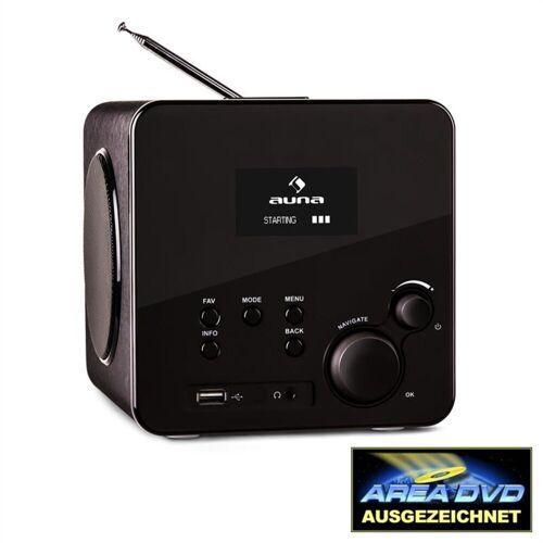 Auna »Radio Gaga Internetradio WLAN/LAN DAB/DAB+ UKW USB AUX schwarz« Radio (WLAN)