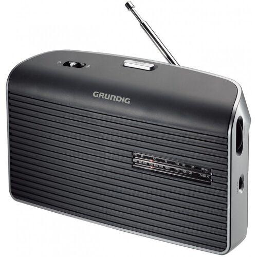 Grundig »Music 60 Kofferradio grau Analog Tuner für UKW/MW Netz-/Batteriebetrieb« UKW-Radio (Tuner für UKW/MW)