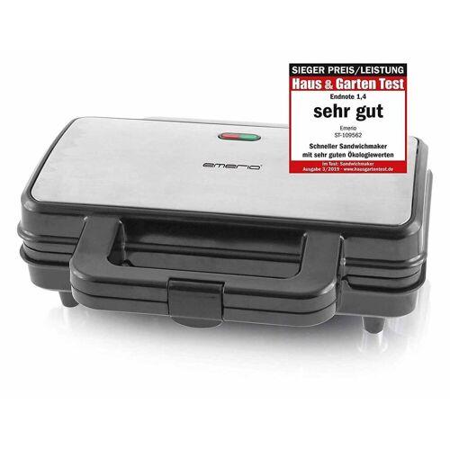 Emerio Sandwichmaker ST-109562 Design Sandwich-Toaster, Edelstahl, 900 W