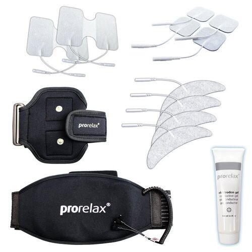 prorelax Elektrodenpads »Zubehör Set 351647«,bestehend aus verschiedenen Elektroden, 1 Therapie-Gürtel & 1 Therapie-Arm Gurt