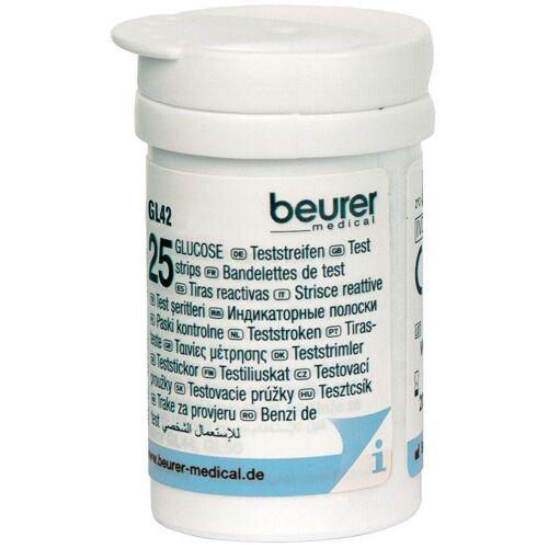 BEURER Blutzucker-Teststreifen »GL 42/ GL 43«, 50-St., zur Verwendung mit dem Blutzucker-Messgerät