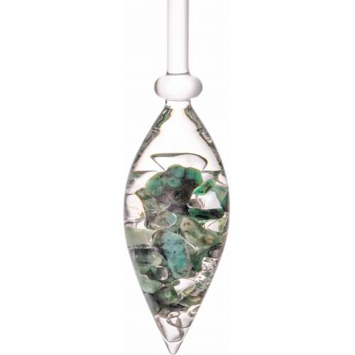 VitaJuwel Mineralstein »Edelsteinphiole Vitality«, Smaragd - Bergkristall