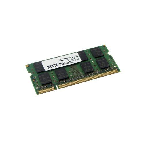 MTXtec »Arbeitsspeicher 2 GB RAM für SAMSUNG NC10 Plus DDR2« Laptop-Arbeitsspeicher