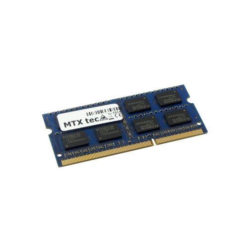 MTXtec »Arbeitsspeicher 4 GB RAM für ASUS X72J« Laptop-Arbeitsspeicher