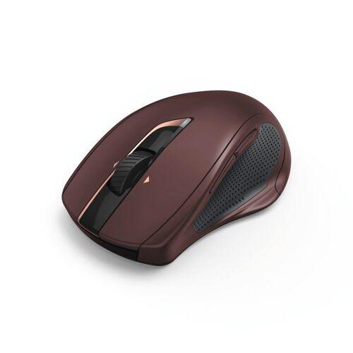 Hama PC Funk Maus, kabellose Laser Computermaus, Auto-dpi/Silent »MW-800, 7 Tasten, kompakt«, Rot