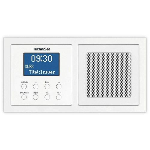 TechniSat »DigitRadio UP 1 weiss Digitalradio DAB+ Unterputz-Radio« Digitalradio (DAB) (Digitalradio (DAB)