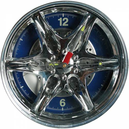 "Out of the Blue Wanduhr »Wanduhr ""Felge"" mit blauer LED D27 cm«"