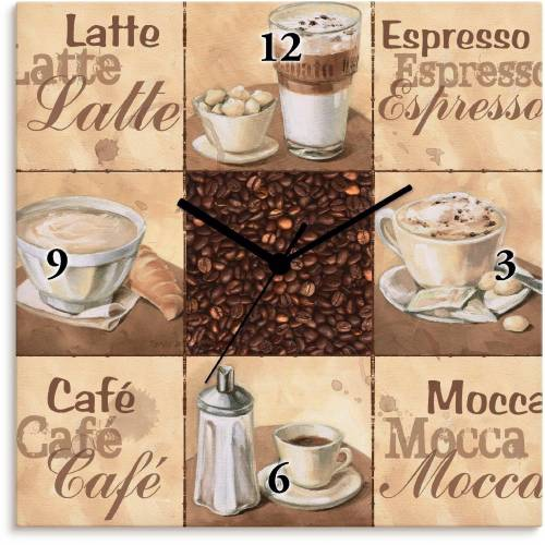 Artland Wanduhr »Kaffee Collage II«