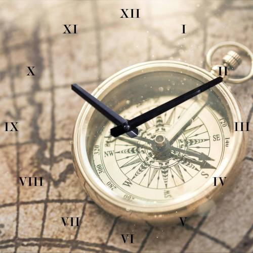 Wanduhr »Kompass«