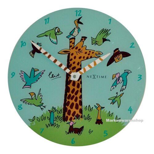 NEXTIME Wanduhr »Wanduhr Kinderzimmer Kinderzimmeruhr Kinder Uhr Giraffe Joy 30cm 8811«