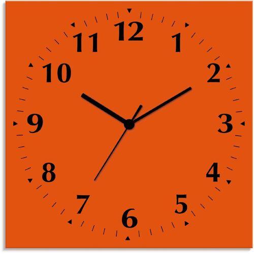 Artland Wanduhr »Uni Trendfarben«, orange