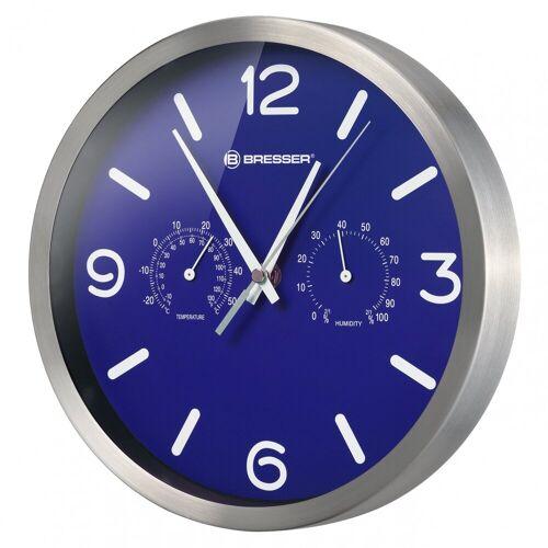 BRESSER Wanduhr »MyTime DCF Thermo-/ Hygro- Wanduhr 25cm«, blau