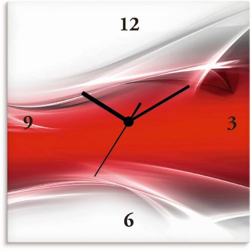 Artland Wanduhr »Kreatives Element«, rot