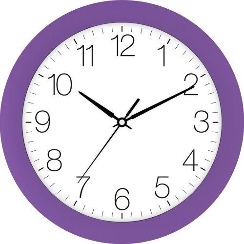 EUROTIME Wanduhr »Trend violett, 88800-21-1«